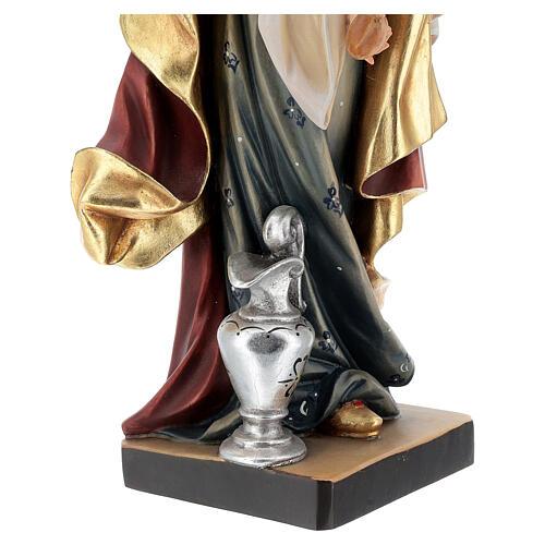 Painted statue in wood Saint Elizabeth with bread, Val Gardena 6