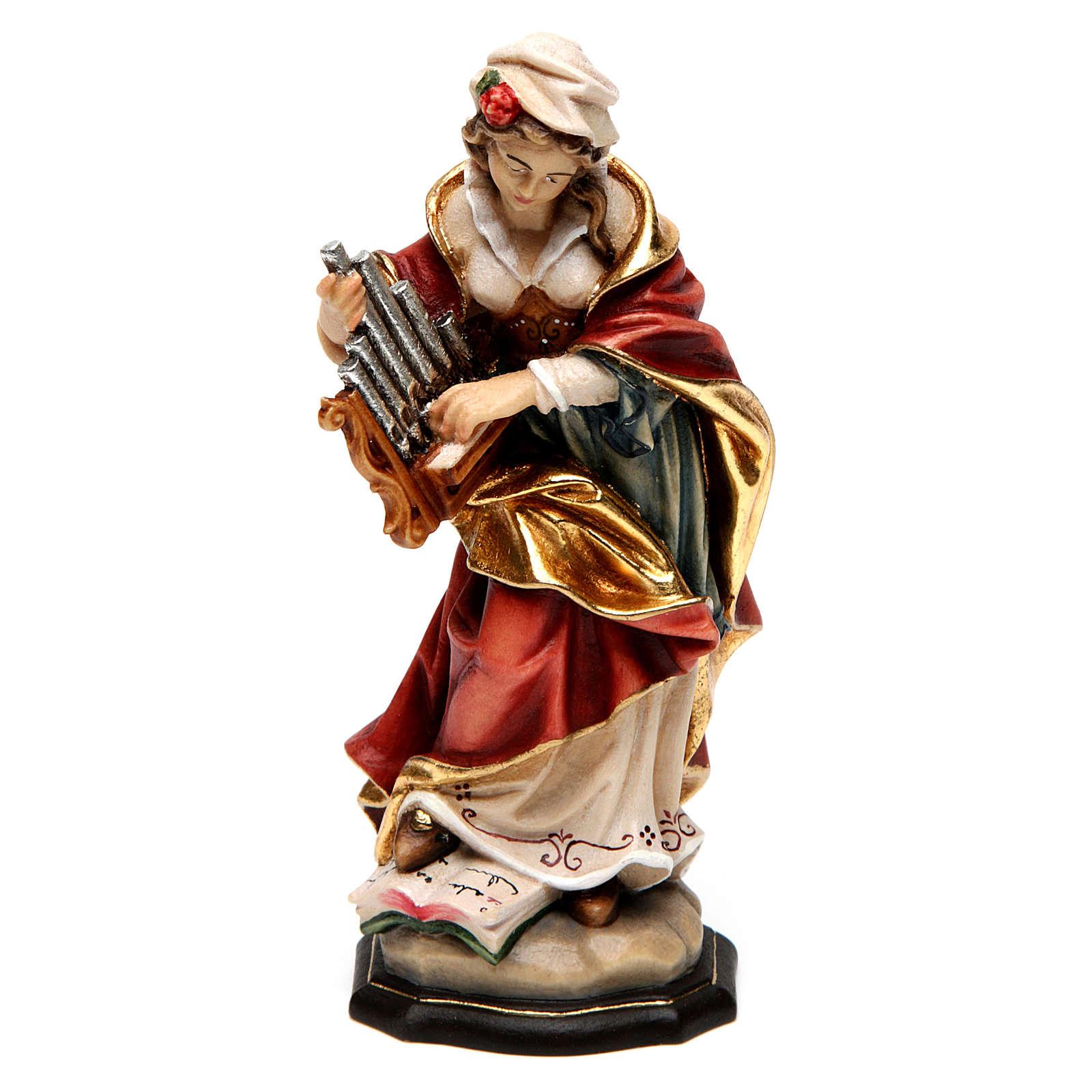 Sainte Cécile peinte bois érable Val Gardena 4