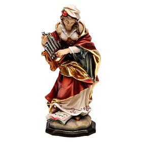 Santa Cecilia dipinta legno acero Valgardena s1