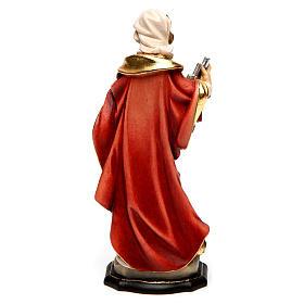 Santa Cecilia dipinta legno acero Valgardena s4