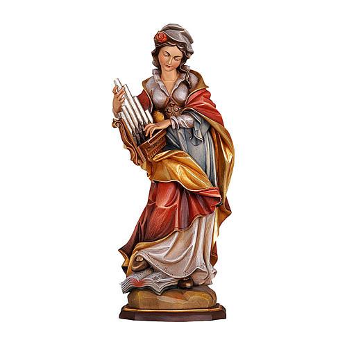 Santa Cecilia dipinta legno acero Valgardena 1