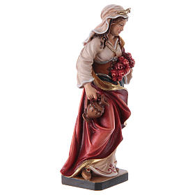 Santa Elisabetta dipinta legno acero Valgardena s4