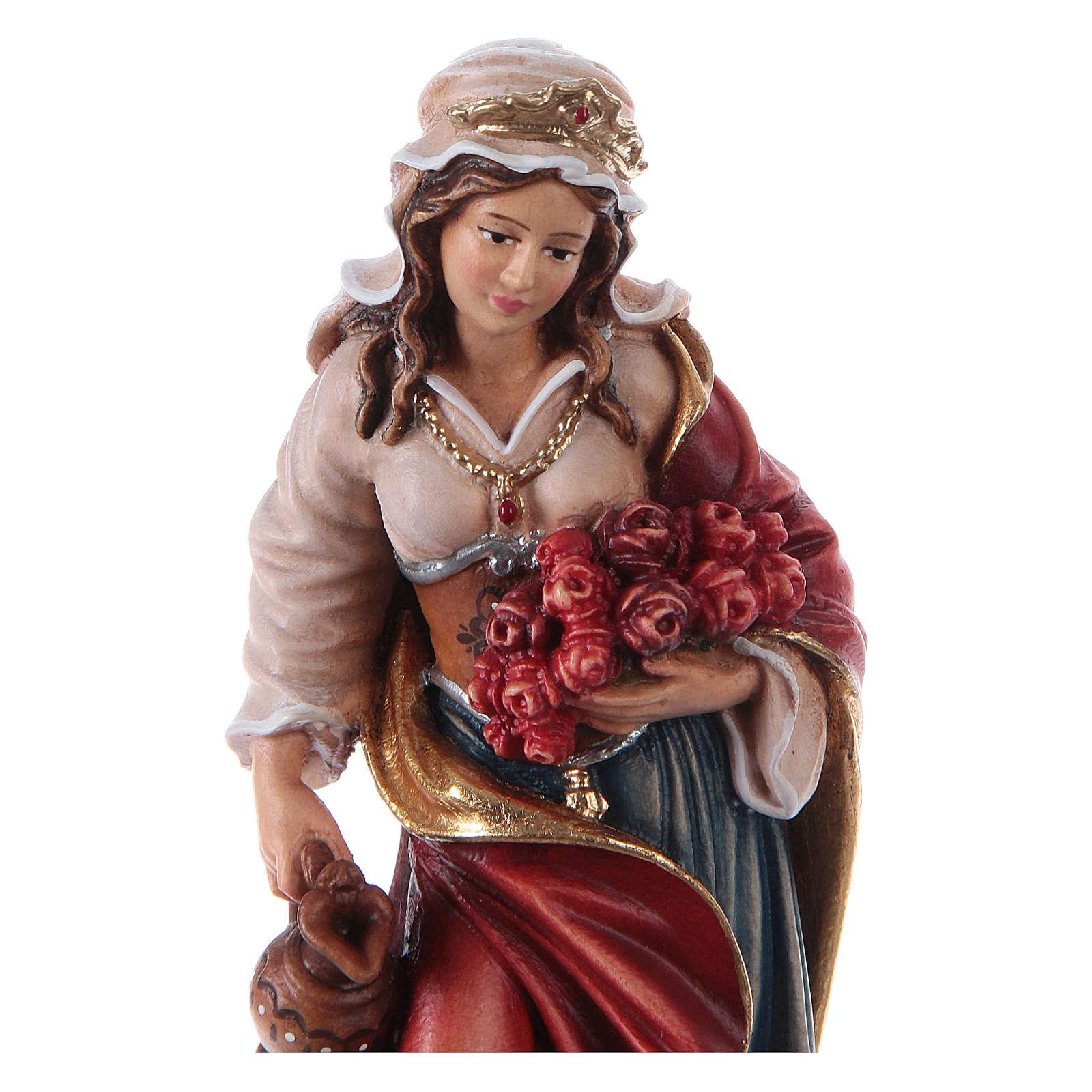 Painted statue in wood Saint Elizabeth, Val Gardena 4
