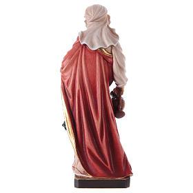Painted statue in wood Saint Elizabeth, Val Gardena s5