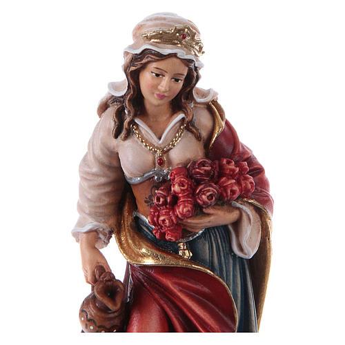 Painted statue in wood Saint Elizabeth, Val Gardena 2