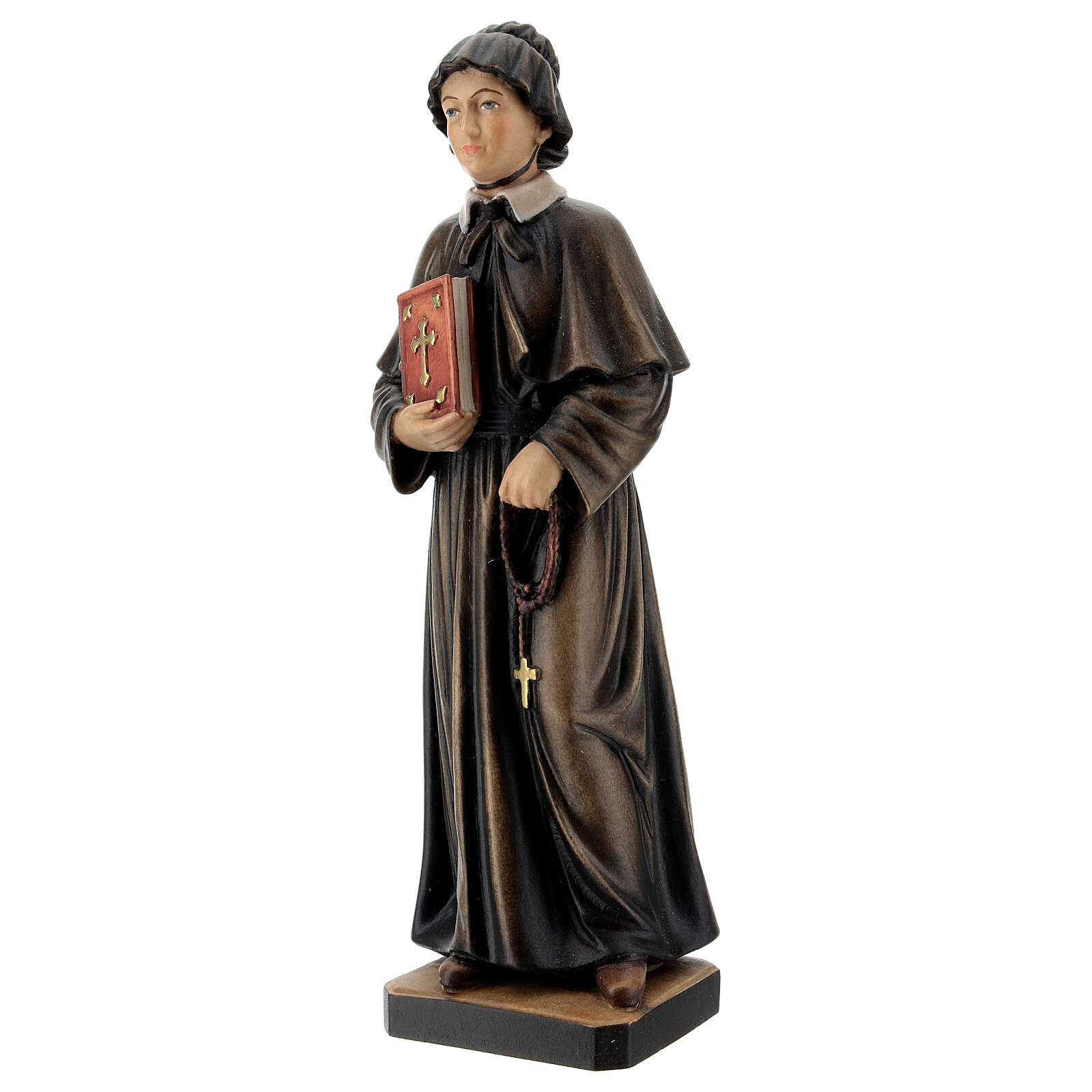 Painted statue in wood Saint Elizabeth Ann Bayley Seton, Val Gardena 4