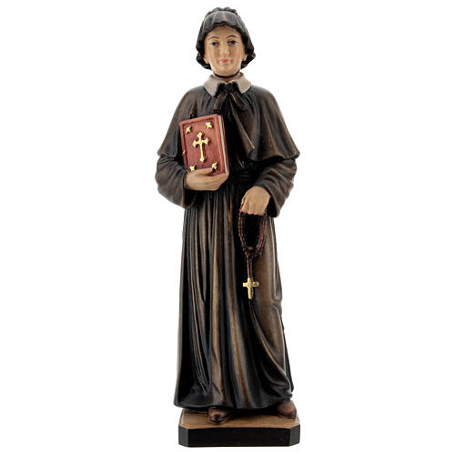 Painted statue in wood Saint Elizabeth Ann Bayley Seton, Val Gardena 1