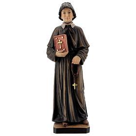 Santa Elisabetta Anna Seton dipinta legno acero Valgardena s1