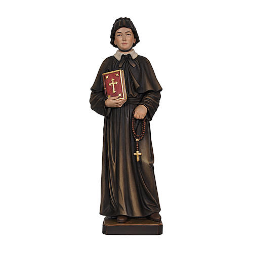 Painted statue in wood Saint Elizabeth Ann Bayley Seton, Val Gardena 1