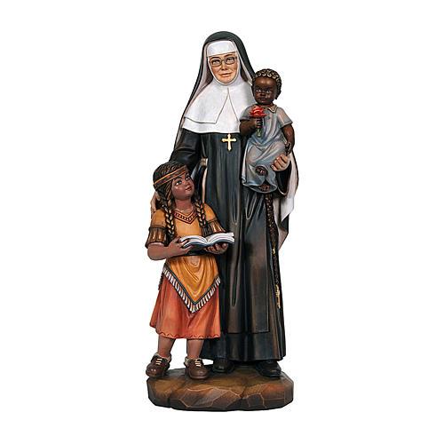 Santa Caterina Drexel dipinta legno acero Valgardena 1