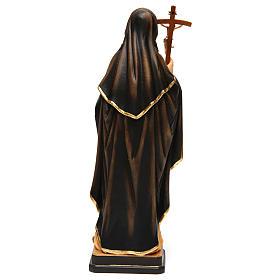 Sainte Monique avec croix bois peint Val Gardena s5