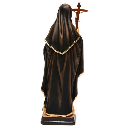 Sainte Monique avec croix bois peint Val Gardena 5