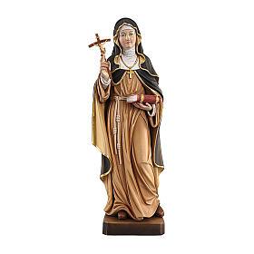 Santa Brigida dipinta legno acero Valgardena s1