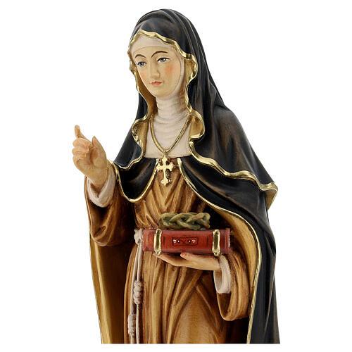 Saint Teresa of Ávila with crown of thorns in painted wood Valgardena 2