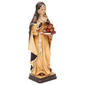 Saint Rose of Lima in painted maple wood Valgardena s4