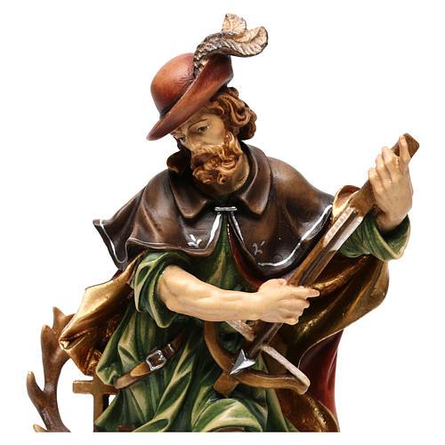 Sant'Uberto legno colorato Valgardena 2