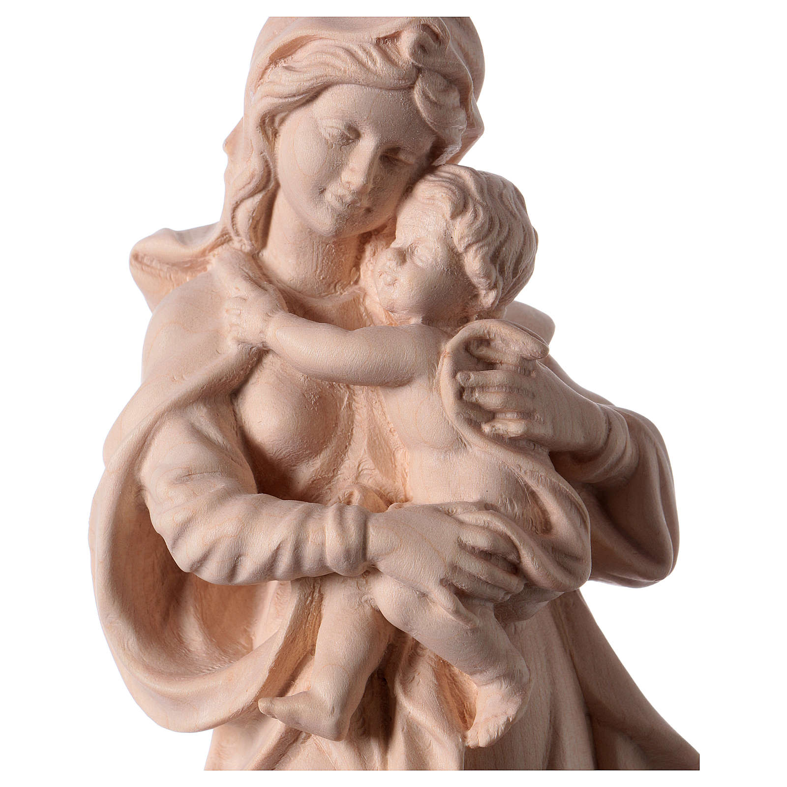Our Lady by Raffaello in natural wood of Valgardena 4