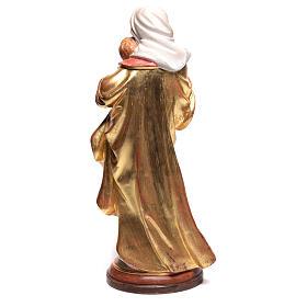 Vierge Raphaël bois Val Gardena or massif tunique argentée s5