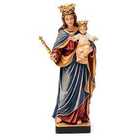 Statues en bois peint: Marie Auxiliatrice Regina Coeli bois Val Gardena peint