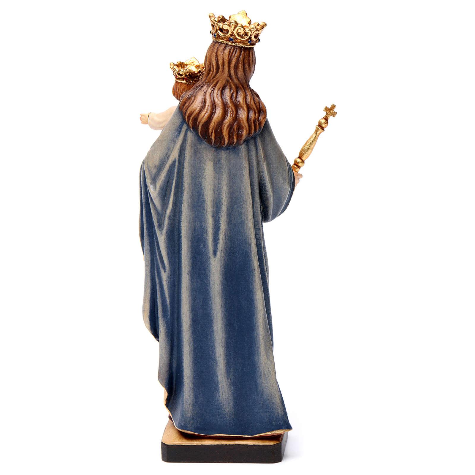 Madonna Ausiliatrice Regina Coeli legno Valgardena dipinta 4