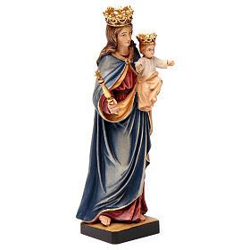 Madonna Ausiliatrice Regina Coeli legno Valgardena dipinta s4