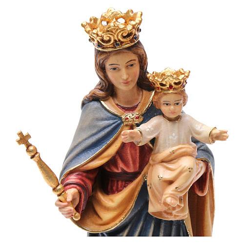 Madonna Ausiliatrice Regina Coeli legno Valgardena dipinta 2