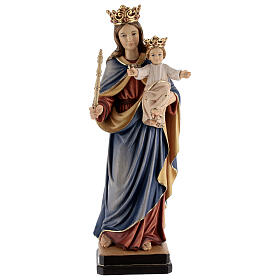 Mary Help of Christians in painted wood of Val Gardena s1