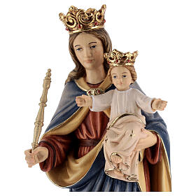 Mary Help of Christians in painted wood of Val Gardena s2