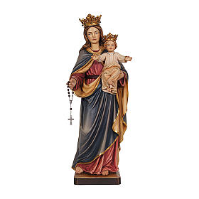Our Lady of Mount Carmel in wood of Val Gardena, painted s1