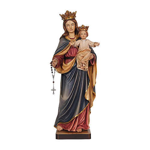 Our Lady of Mount Carmel in wood of Val Gardena, painted 1