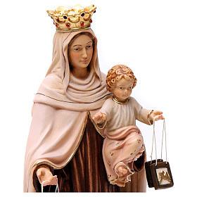 Beata Virgen María del Monte Carmelo madera Val Gardena pintada s2