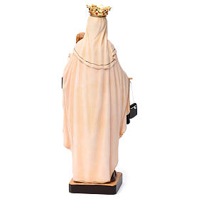 Notre-Dame du Mont Carmel bois Val Gardena peint s5