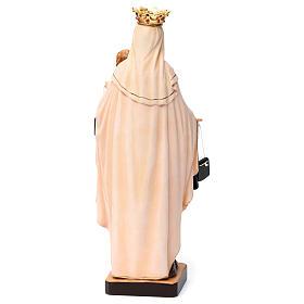 Beata Vergine Maria del Monte Carmelo legno Valgardena dipinta s5
