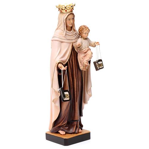 Beata Vergine Maria del Monte Carmelo legno Valgardena dipinta 3