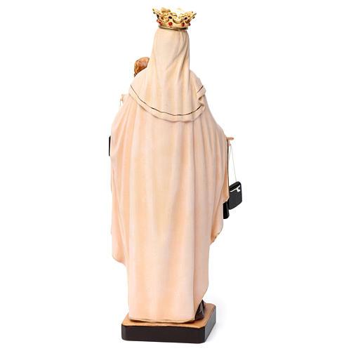 Beata Vergine Maria del Monte Carmelo legno Valgardena dipinta 5