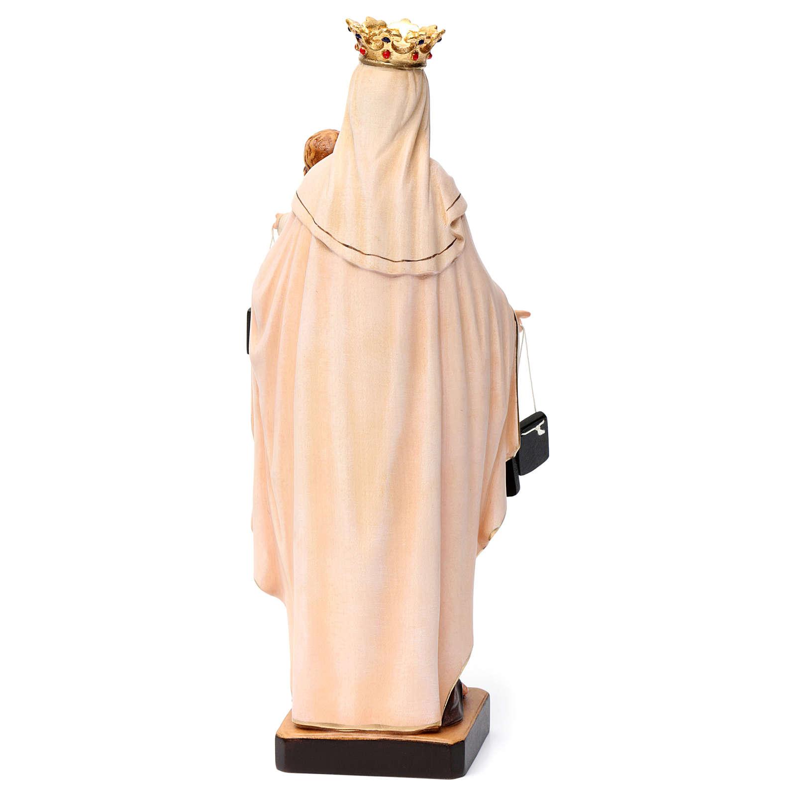 Nossa Senhora do Carmo madeira Val Gardena pintada 4