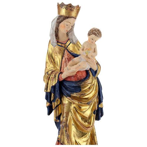 Statue Krumauer Madonna Grönertal Holz antikisierten Finish