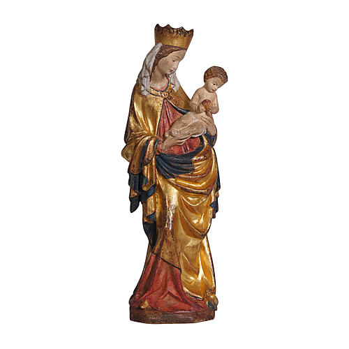 Krumauer Madonna in wood with pure gold cape, Val Gardena 1