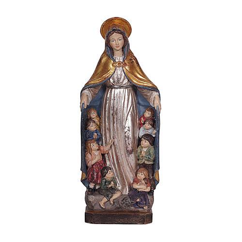 Madonna della protezione legno Valgardena oro zecchino antico silver 1