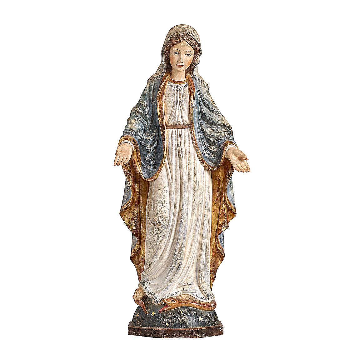 Madonna delle Grazie legno Valgardena oro zecchino antico 4