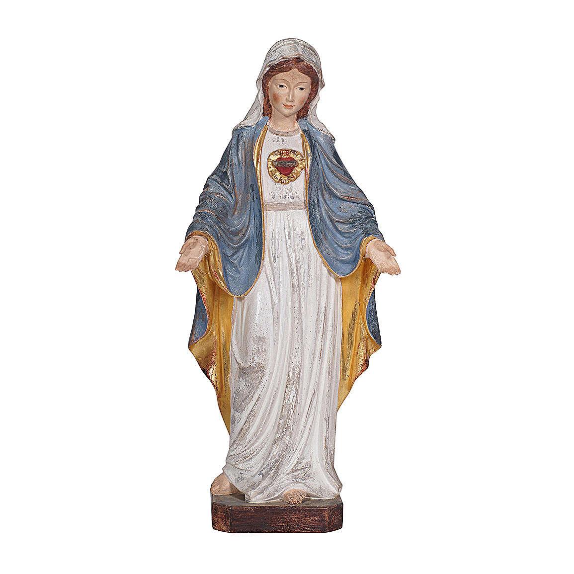 Sacro Cuore di Maria legno Valgardena oro zecchino antico 4