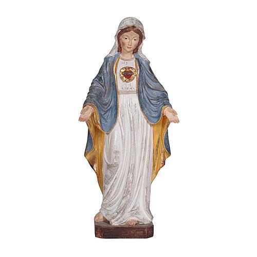 Sacro Cuore di Maria legno Valgardena oro zecchino antico 1