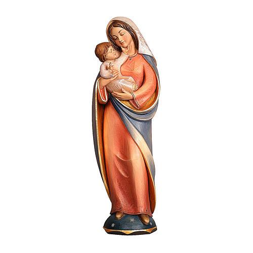 Madonna classica legno Valgardena colori ad acqua 1