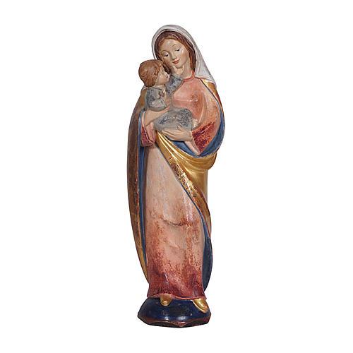 Madonna classica legno Valgardena antico oro manto silver 1