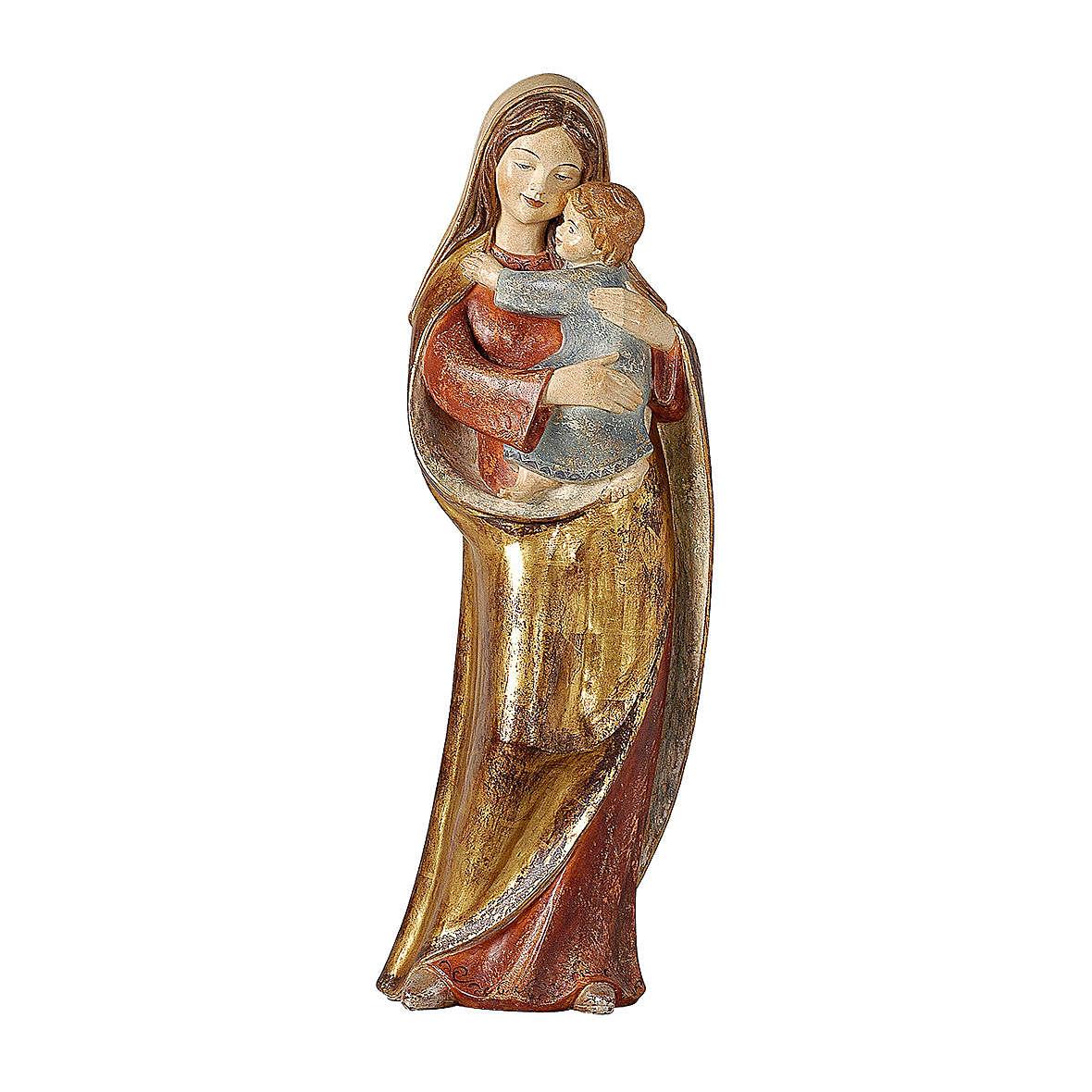 Madonna della speranza legno Valgardena manto oro zecchino 4
