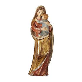 Madonna della speranza legno Valgardena manto oro zecchino s1