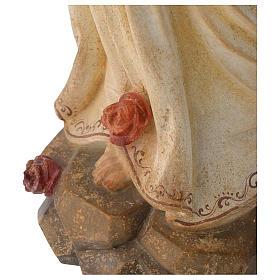 Madonna di Lourdes legno Valgardena antico oro zecchino s3