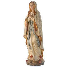 Madonna di Lourdes legno Valgardena antico oro zecchino s4