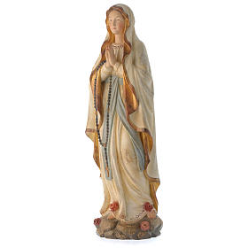 Our Lady of Lourdes in wood of Valgardena finished in antique pure gold s4