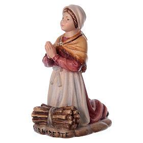 Bernadette Soubirous in painted wood of Valgardena s2